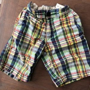 Gap Kids Boys plaid shorts